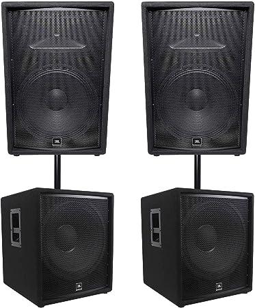 JBL JRX215 15 Passive Two-Way Speaker Pair PA Package