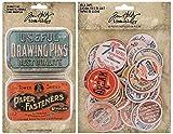 Tim Holtz Trinket Tins and Milk Caps - Two item