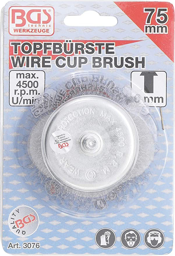 65 mm Size M14 x 2 Grey//Black BGS 3993 Wire Cup Brush