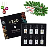 OZRO TLC 8 in 1 Aromatherapy Essential Oils - Certified 100% Pure Essential oil - Highest Quality Therapeutic Grade – Lavender, Ylang Ylang, Sweet Orange, Lemongrass, Clove, Peppermint, Rosemary, Tea Tree (8 x 10 ml)