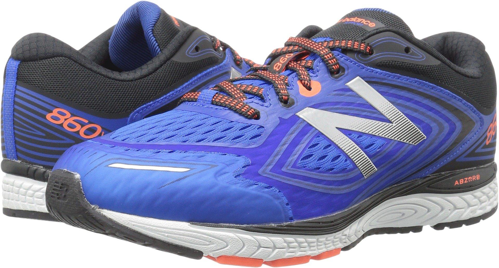 New Balance Kids' 860v8 Running-Shoes, Navy/Grey, 7 XW US Big Kid