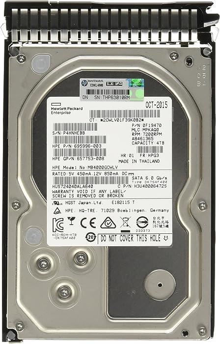 HP 3.5-Inch 4000 GB Hot-Swap 2 MB Cache Internal Hard Drive 693687-B21
