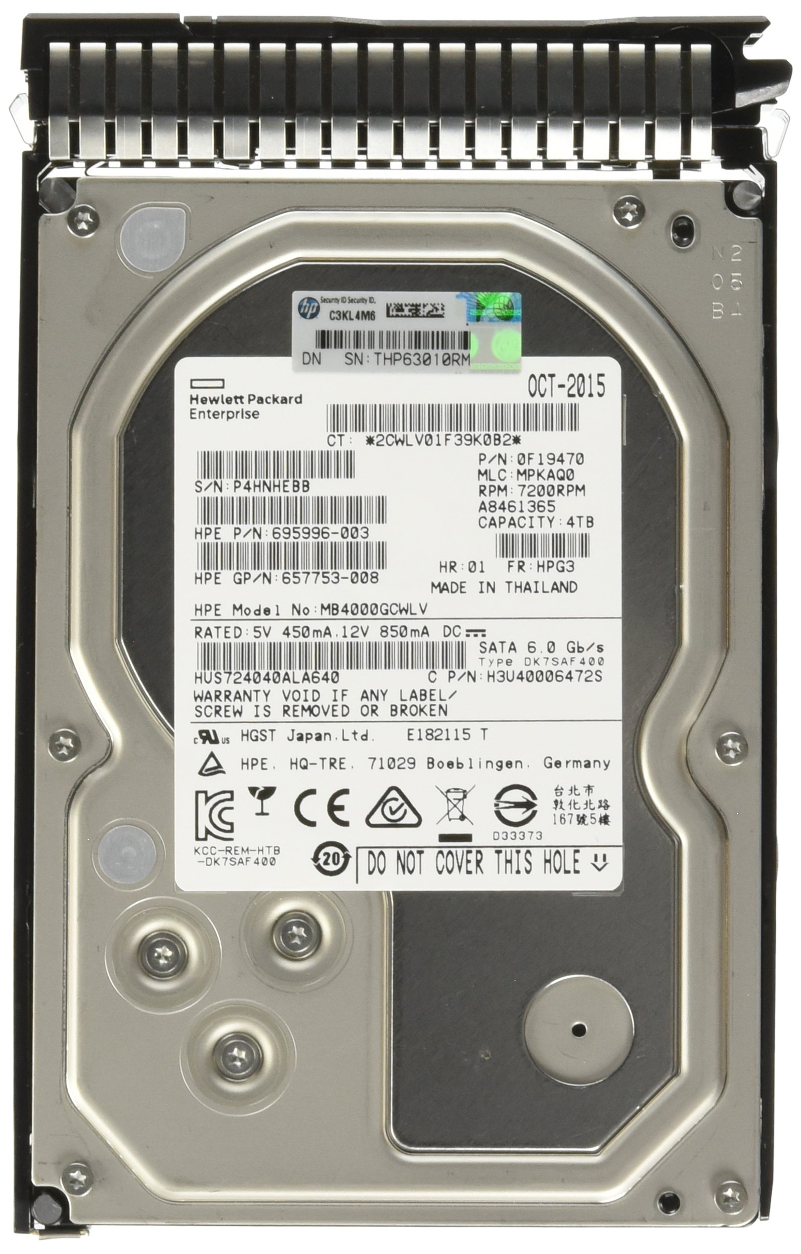 HP 3.5-Inch 4000 GB Hot-Swap 2 MB Cache Internal Hard Drive 693687-B21
