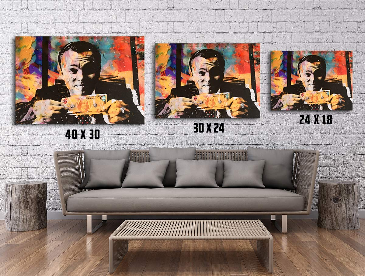 Love Family And Home Invincible Wolf of Wall Street Money Talks Abstract Canvas Wall Art 40Wx30L