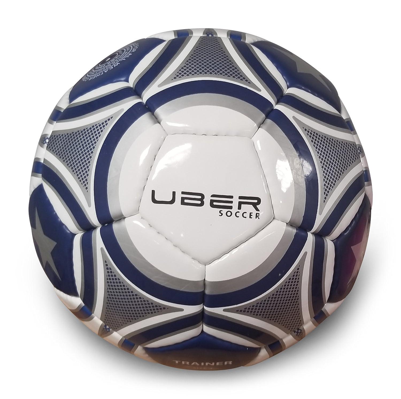 Uber Balón de fútbol con diseño de Estrellas y Rayas, 3, Blanco ...