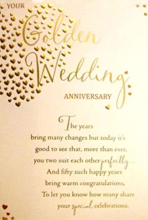 Large sized cream gold your golden wedding anniversary 50th large sized cream gold quotyour golden wedding anniversaryquot 50th wedding anniversary greetings m4hsunfo