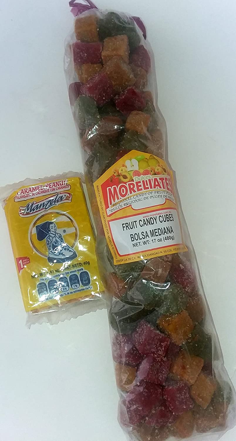 Amazon.com : Authentic Sabores - Imported Mexican Moreliates Fruits Candy 480g With 1ct. Coco Bandera : Grocery & Gourmet Food