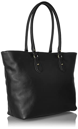 1c2a23a3c Amazon.com: Tommy Hilfiger Travel Tote Bag for Women Jaden, Black Polyvinyl  Chloride: Clothing