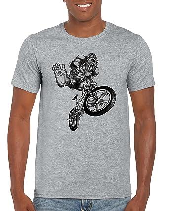 8bbf52742 BMX Bandit Gorilla Freestyle – Bike Stunt Retro Old School Extreme Sport  Sketch Illustration Big Graphic Animal T-Shirt for Men – TeesUK/Cycling  Biking ...