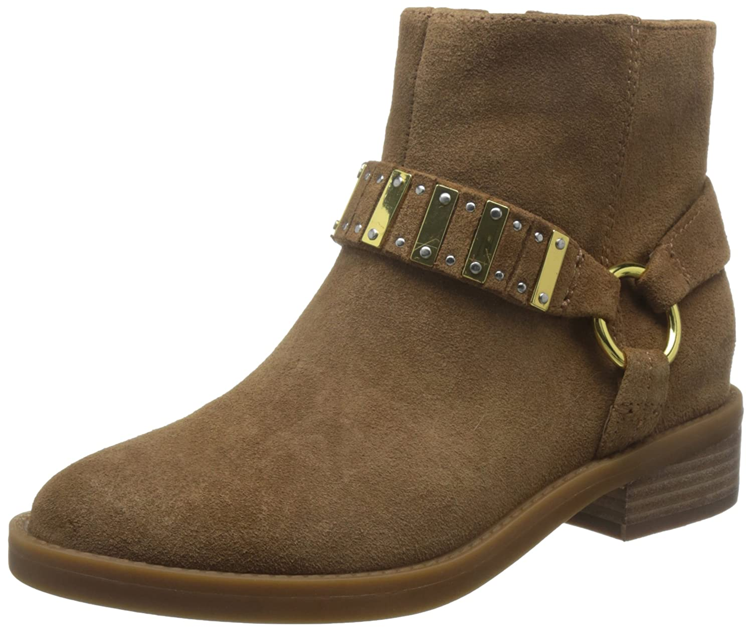 Nine West Women's Tanit Suede Ankle Boot B01MYGL1L5 10.5 B(M) US|Brown