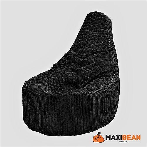 beanbag gamer arm chair adult brown gaming bean bag faux. Black Bedroom Furniture Sets. Home Design Ideas