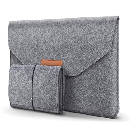check out 5f34a 954fb HOMIEE MacBook Pro 13 Inch Sleeve Felt Laptop Protective Case for 2016-2018  MacBook Pro, 2017-2018 MacBook Air, 12.9