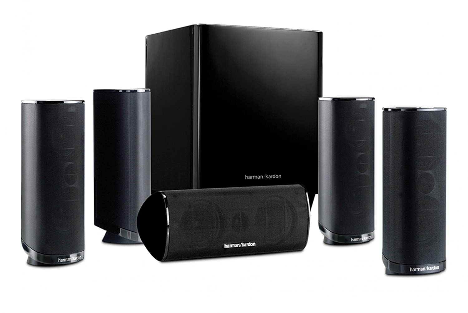 Amazon.com: Harman Kardon HKTS 16BQ 5.1 Channel Home Theater Speaker ...