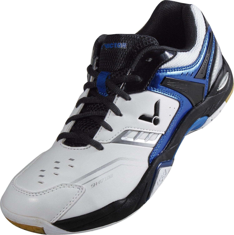 VICTOR SH-A710 Indoor Sportschuh   Badmintonschuh   Squashschuh   Hallenschuh, Weiß Blau, Weiß, 40 EU