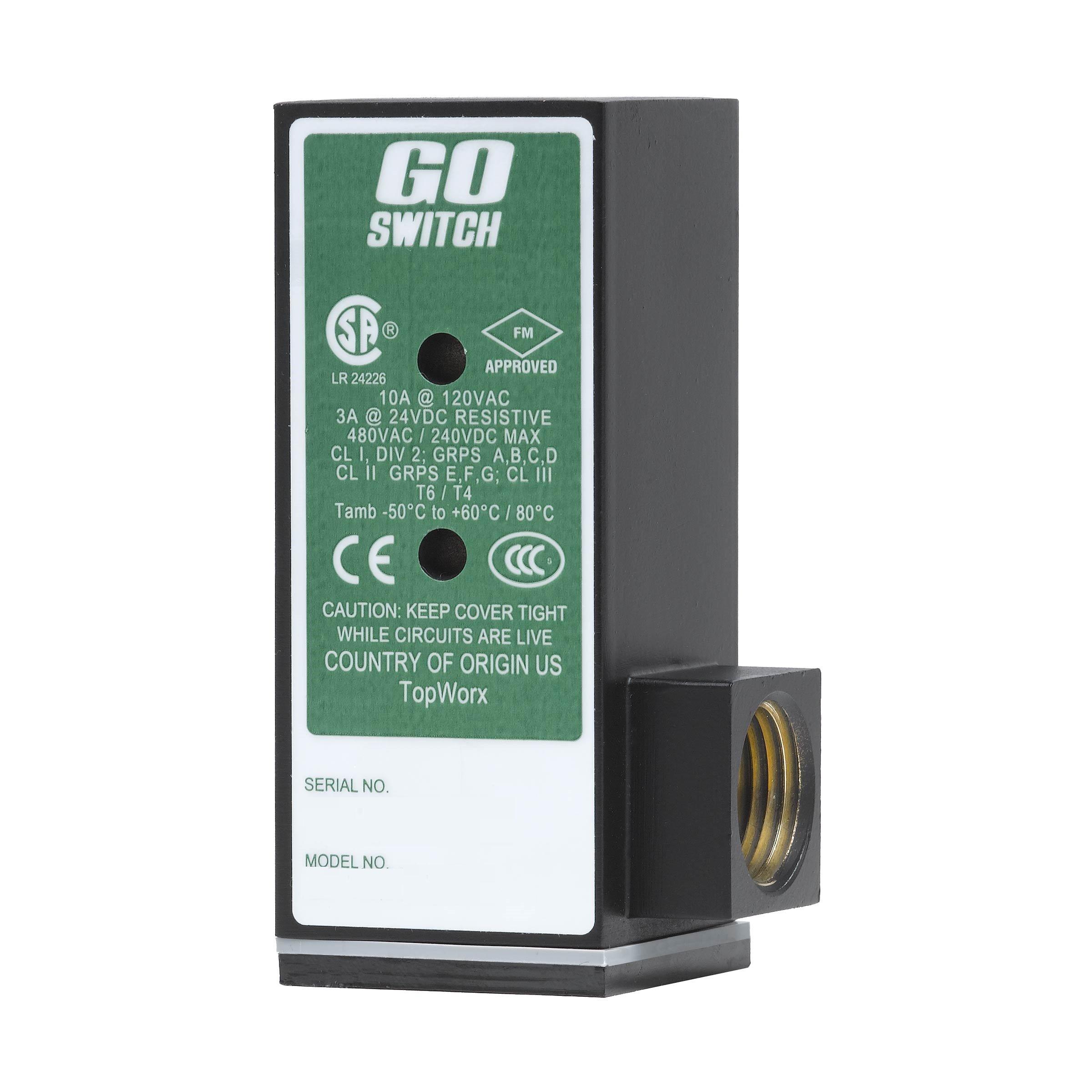 1//2 NPT Conduit GO Switch 11-12110-00 CSA//FM CL1 Div 2 Exp-Proof 14 mm Sensing Distance Limit Switch Style 10A//120VAC Terminal 1.5 x 1.5 x 5