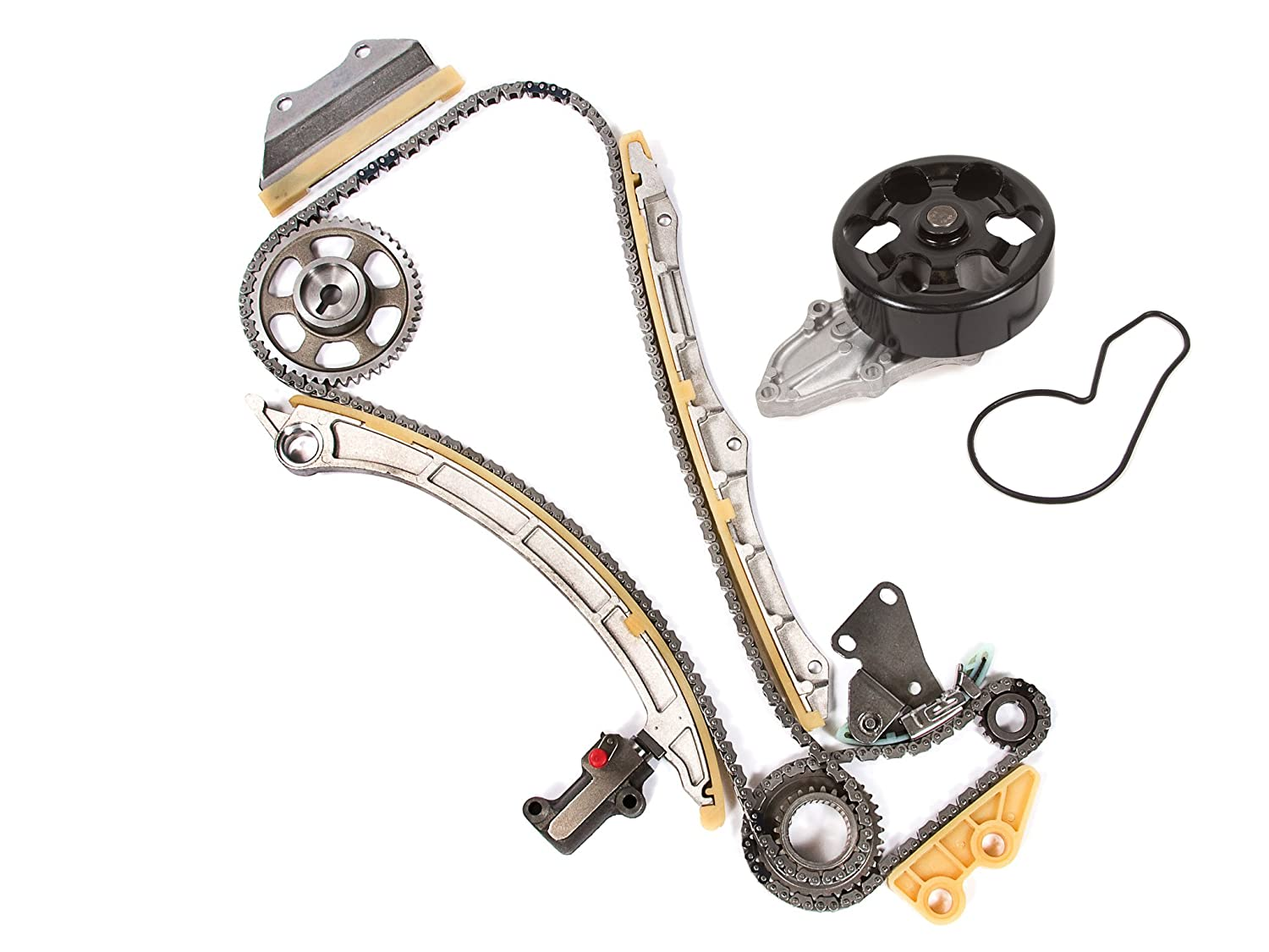 amazon com: evergreen tk4041wpt honda cr-v k24a1 timing chain kit water  pump (with gears): automotive