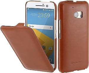 StilGut UltraSlim, housse en cuir pour HTC 10, en cognac