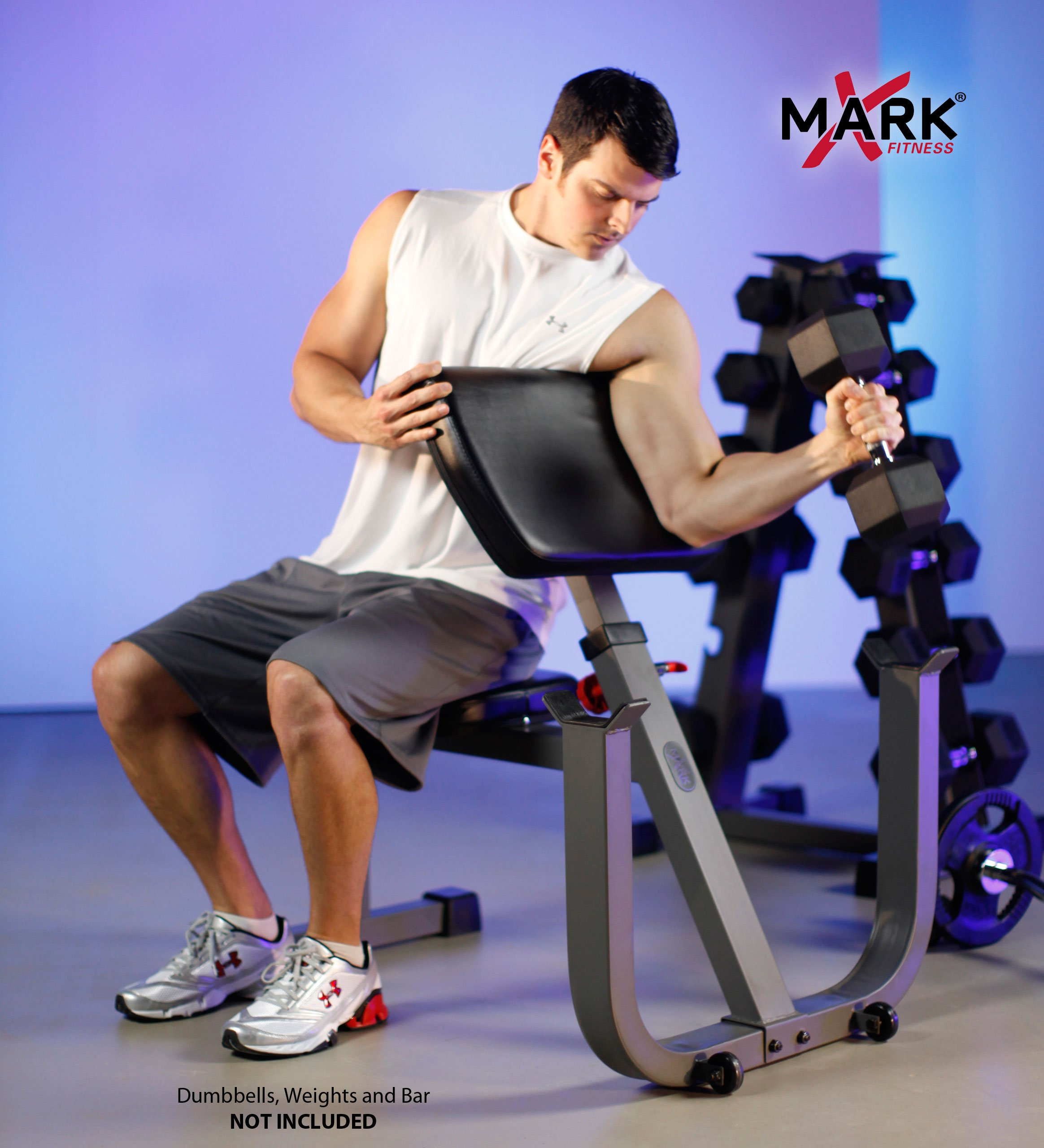 XMark Seated Preacher Curl Weight Bench XM-4436 by XMark Fitness (Image #5)
