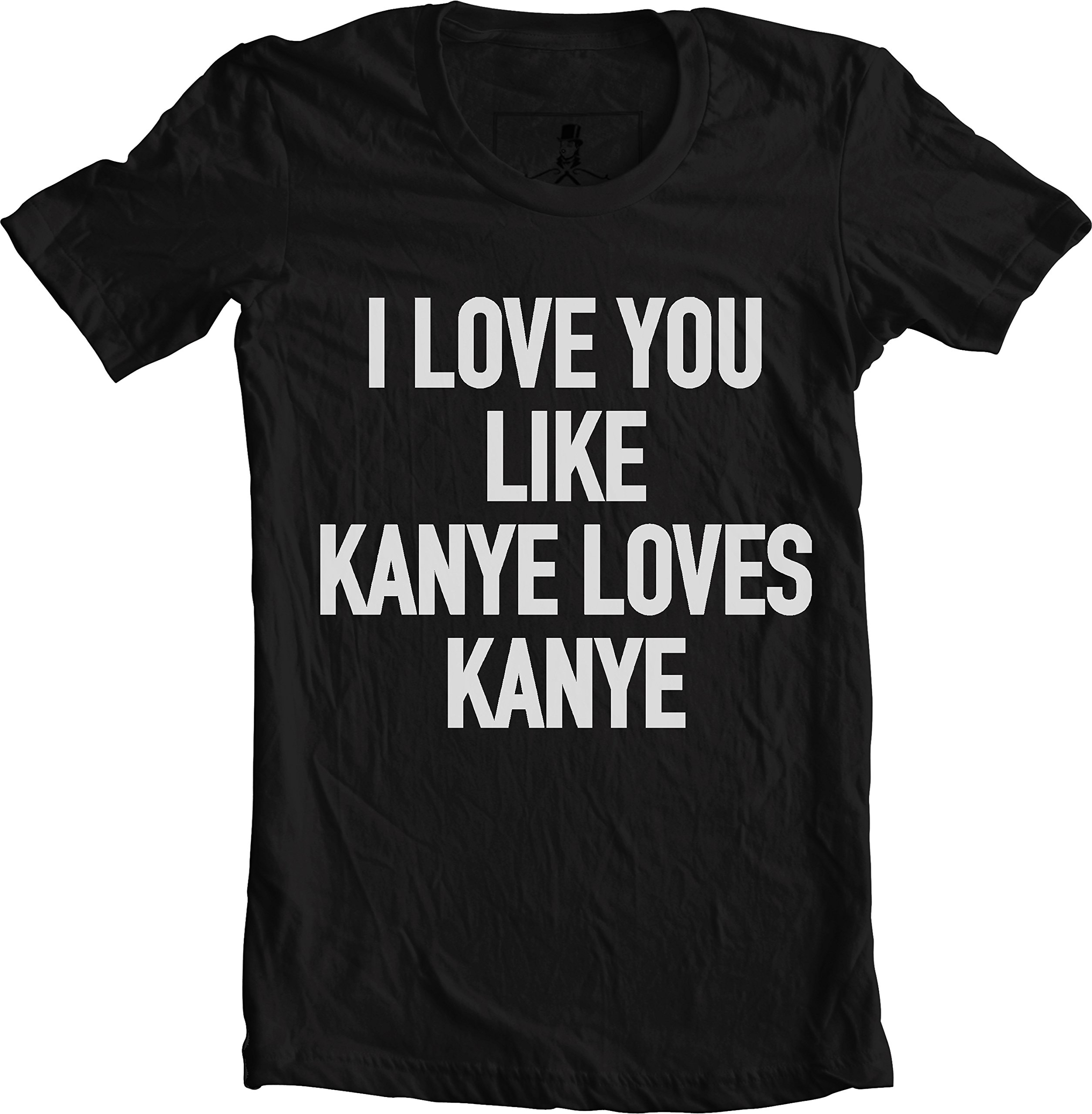 Hip Hop Rap Lyrics Quotes Music Gray Unisex T-Shirt (Medium, Kanye Love Black) by Xqste (Image #1)