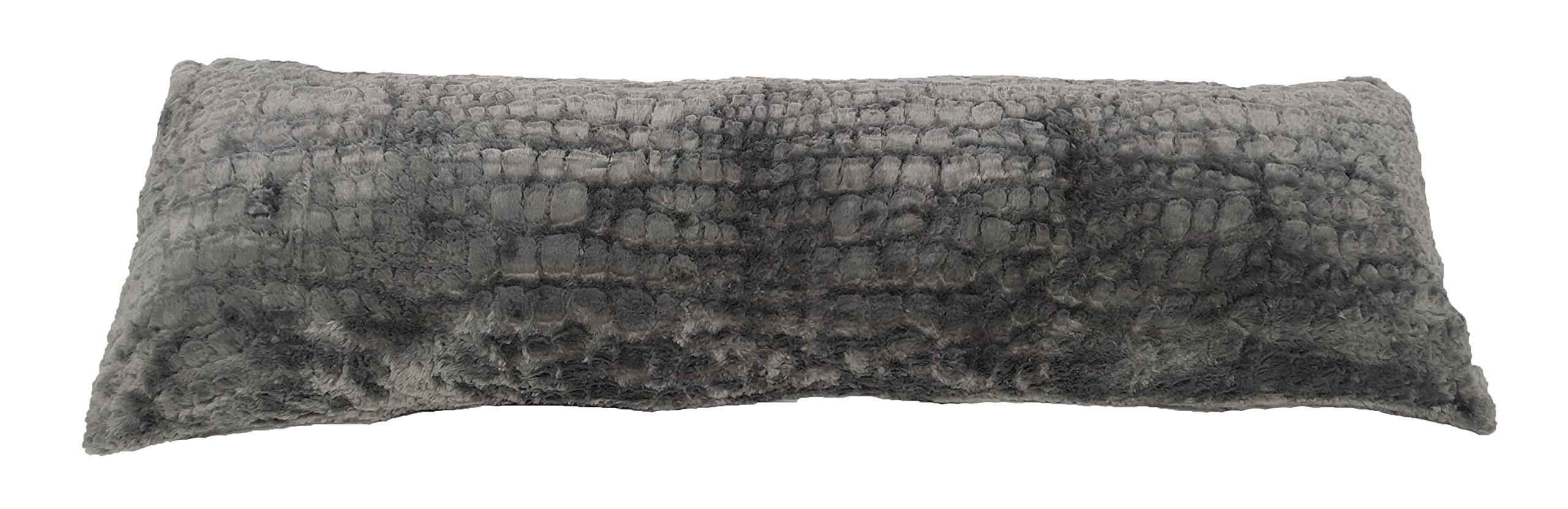 Pillowtex Plush Body Pillow (20''x54'' Grey)