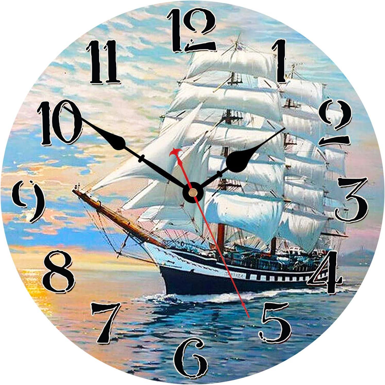 WISKALON Reloj De Pared De Decoración, Reloj De Pared De Metal Silencioso con Batería para Interiores, Reloj De Pared Vintage Europeo con Grandes Números Romanos  Romana Negra Clásica 24