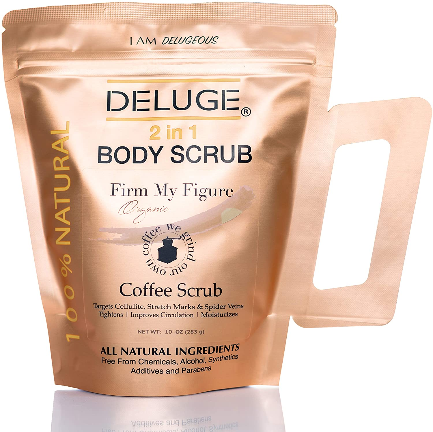 Amazon Com Deluge Organic Coffee Body Scrub And Face Scrub