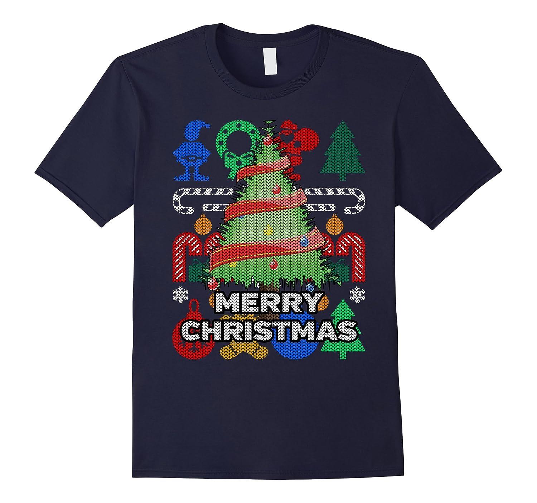 Christmas Tree Ugly Holiday T-shirt - Merry Christmas-FL
