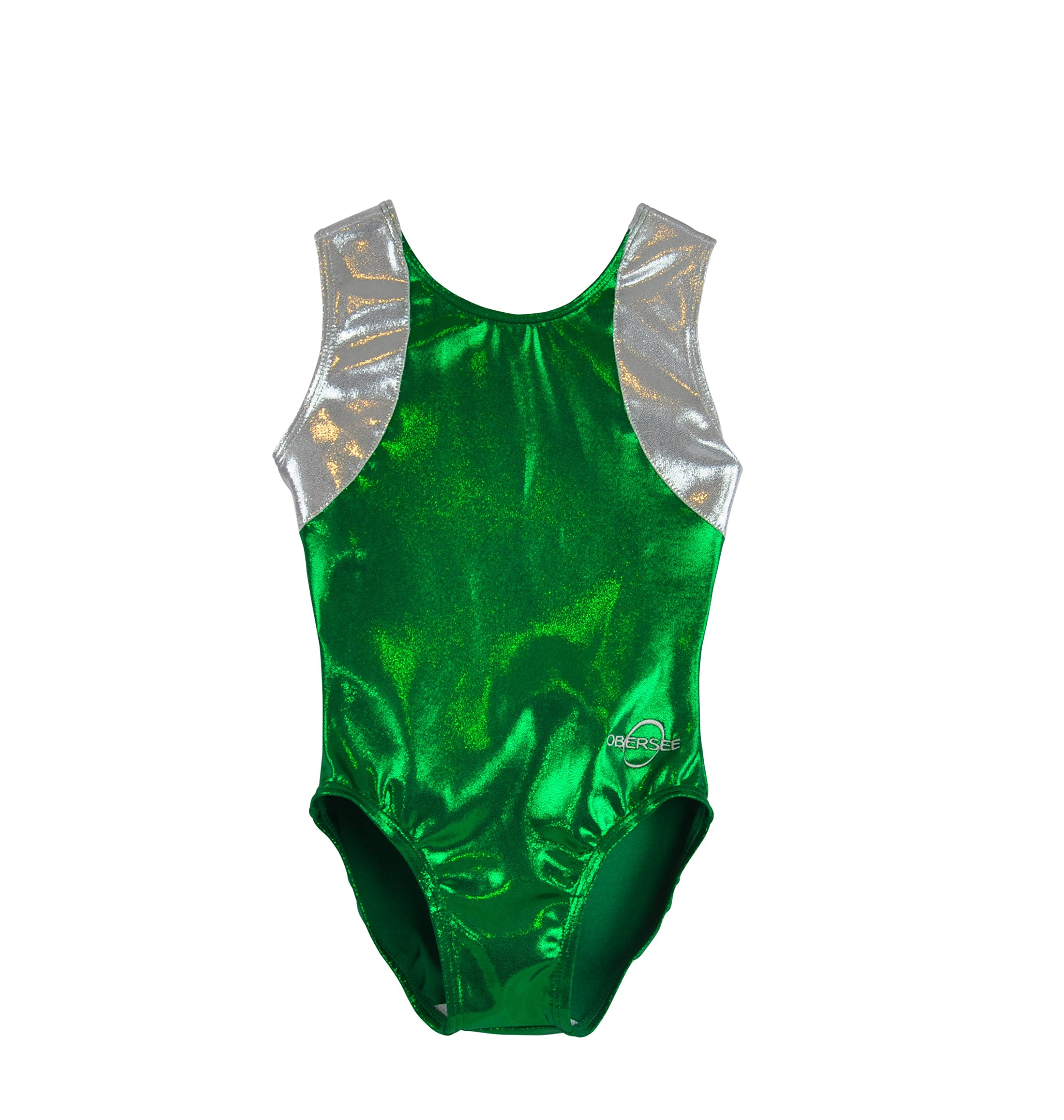Obersee Kid's Gymnastics Leotard, Cross Back Green, cm by Obersee