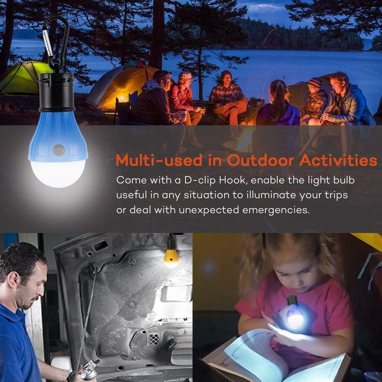 Abenteuer,Angeln 3-Helligkeit Modus,Tragbare Laterne Zelt Leuchtmittel Zeltlampe Gl/ühbirne Set f/ür Camping 4 St/ücke Camping LED Campinglampe mit Karabiner Florally Camping Lantern