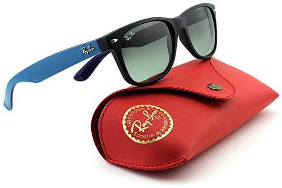 e89f72766 Amazon.com: Ray-Ban RB2132 New Wayfarer Square Gradient Unisex Sunglasses (Matte  Black Frame/Grey Gradient Dark Grey Lens 618371, 55): Clothing