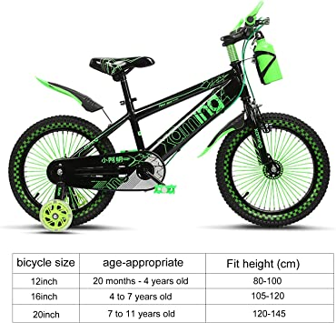 anmas Sport infantil 16inch FLEXIONES Bicicleta Niño Seguro Bicicleta Con Peine GRATIS CASCO & HERVIDOR - Verde: Amazon.es: Deportes y aire libre