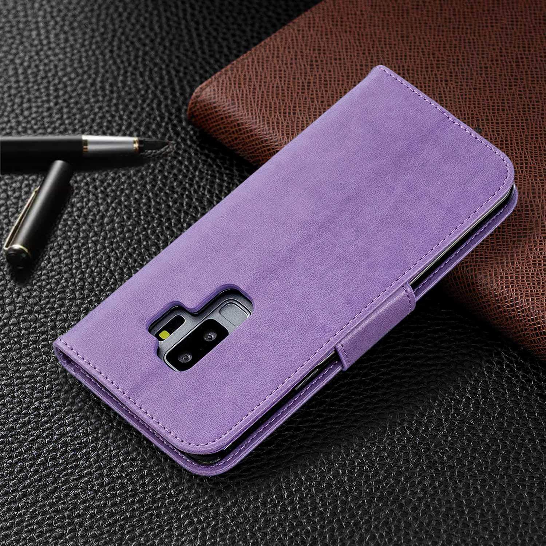 Schmetterling Brieftasche H/ülle mit Kartenfach Grau DENDICO Premium Leder Flip Handyh/ülle f/ür Samsung Galaxy S9 Plus Galaxy S9 Plus H/ülle