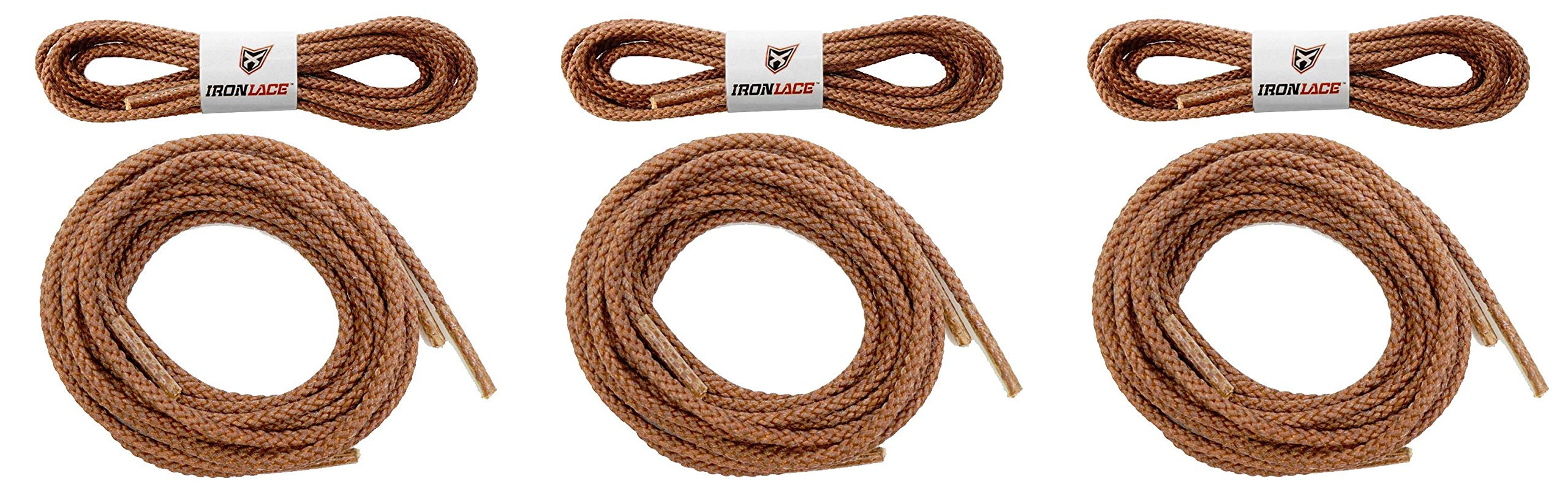 Unbreakable Extra Heavy Duty Round Boot Laces Shoelaces 72'' (Тhrее Pаck)