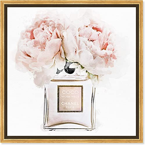 The Oliver Gal Artist Co. Fashion and Glam Framed Wall Art Canvas Prints 'Dawn Morning Bouquet Peach' Perfumes Home D cor