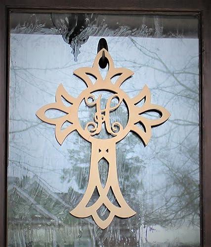 Amazon Com 24 Wooden Personalized Cross Personalized Door Sign