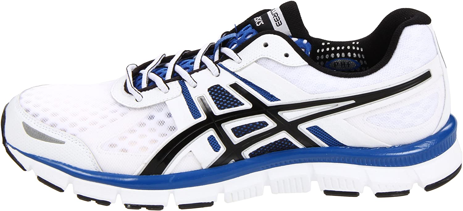 Amazon.com | ASICS Men's Gel-Blur33 Running Shoe, White/Black/Royal, 8 M US  | Road Running