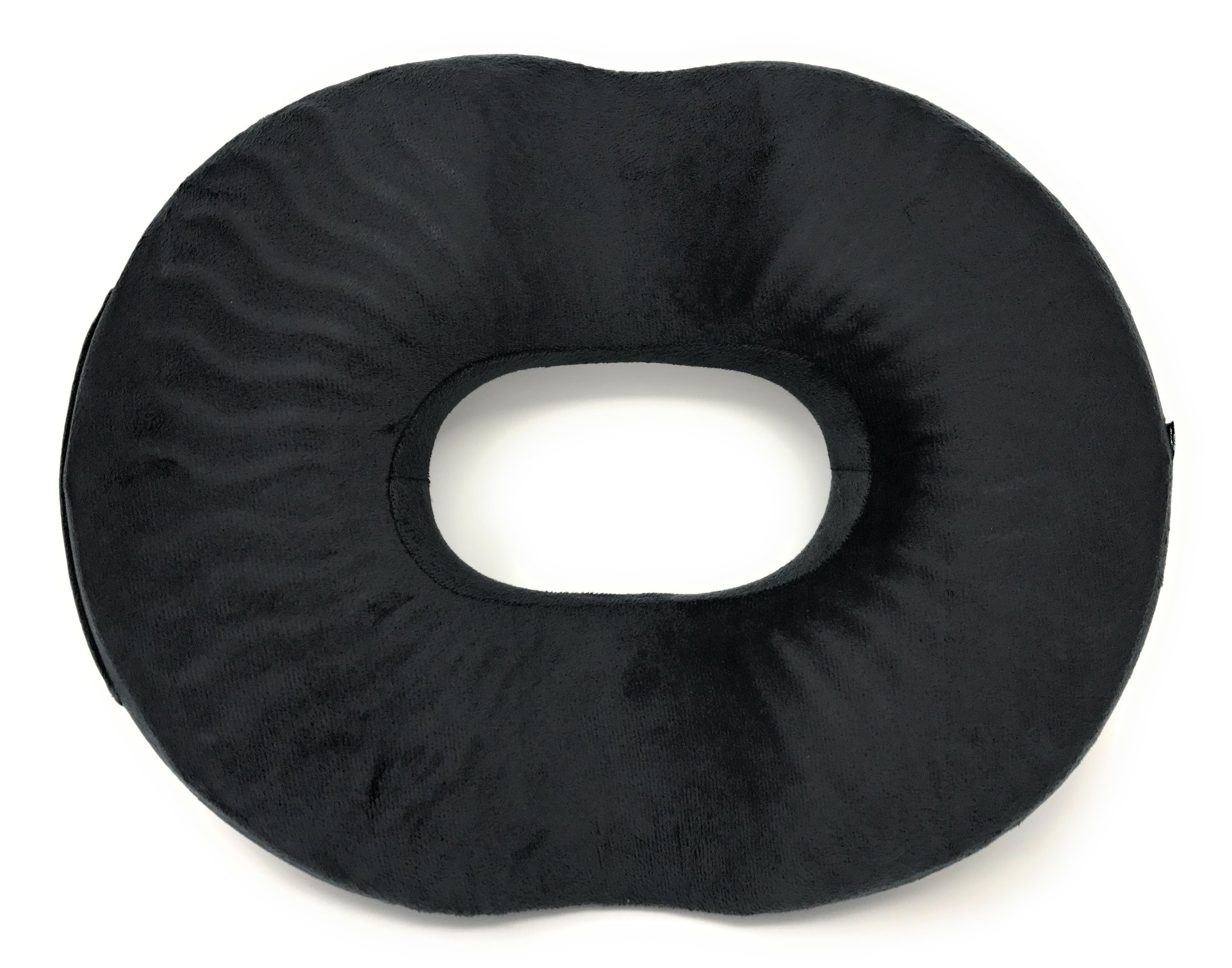COZMAX - Donut Seat Cushion with Cooling Gel Comfort Pillow for Hemorrhoids, Prostate, Pregnancy, Post Natal Pain Relief Treatment, Surgery (Black) (Sway)