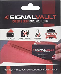 SignalVault SV-2Pack RFID Blocking Signal Vault Credit & Debit Card Protector (2 Cards)