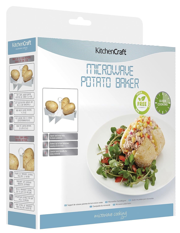 Kitchen Craft - Utensilio para cocinar patatas en microondas ...