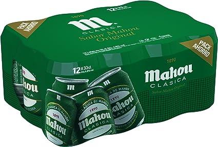 Mahou - Clásica Cerveza Dorada Lager, 4.8% de Volumen de Alcohol ...