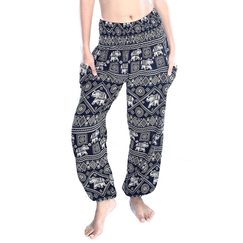 6221a0f792f Amazon.com  Boho Pants Harem Pants Yoga Trousers for Woman Bohemian Beach  Pants  Clothing