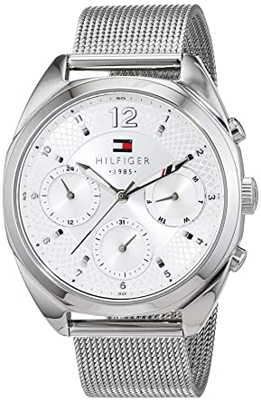 Tommy Hilfiger Womens 1781628 Sophisticated Sport Silver-Tone Stainless Steel Watch