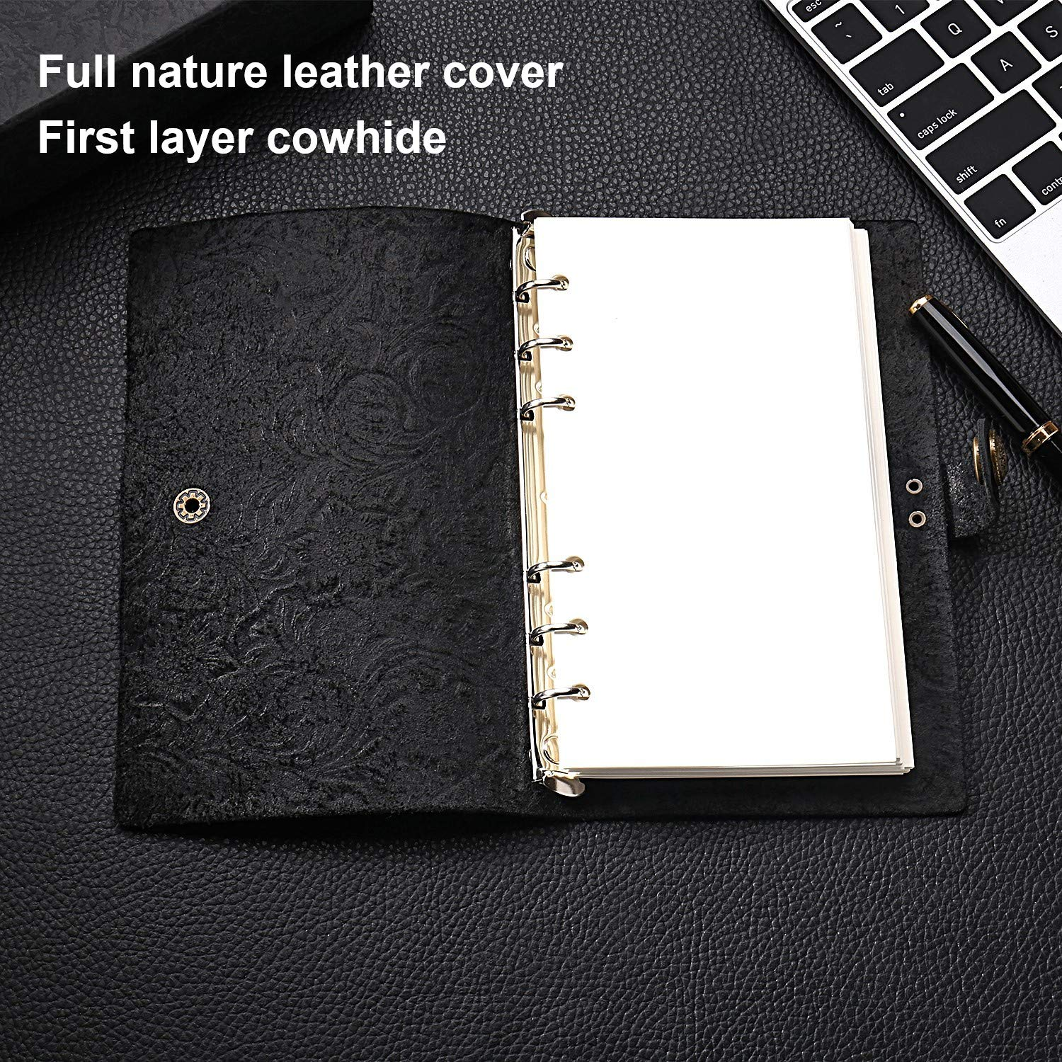 B6 Genuine Leather Notebook Nature Leather Journal Refillable Vintage Notepad