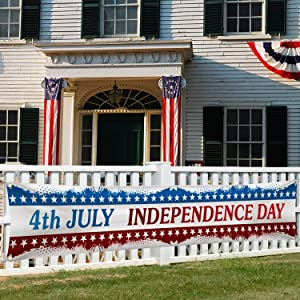 Large 4th of July Independence Day Banner Outdoor Flag 120