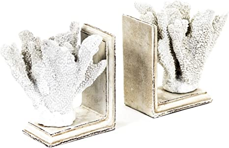 Zentique Shi024 White Coral Bookends Home Kitchen