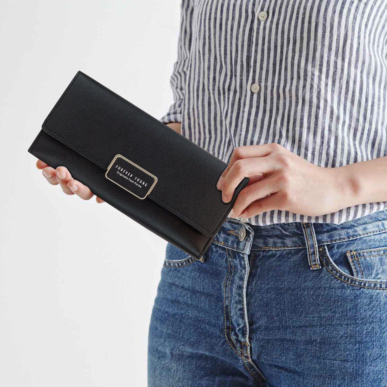 Amazon.com: Para mujer portafolios, [Elle] Slim cartera ...