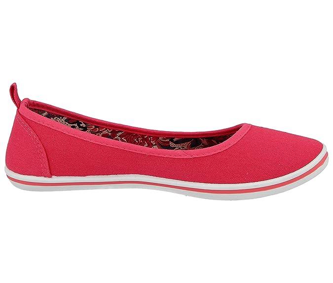 8abb4d04ed7 Ladies Canvas Slip On Geotex Memory Foam Flexible Comfort Lightweight  Ballet Pumps Dolly Shoes Size 3-8  Amazon.co.uk  Shoes   Bags