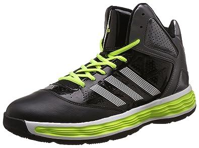 adidas uomini tiranno nero, argento e giallo sport scarpe da basket