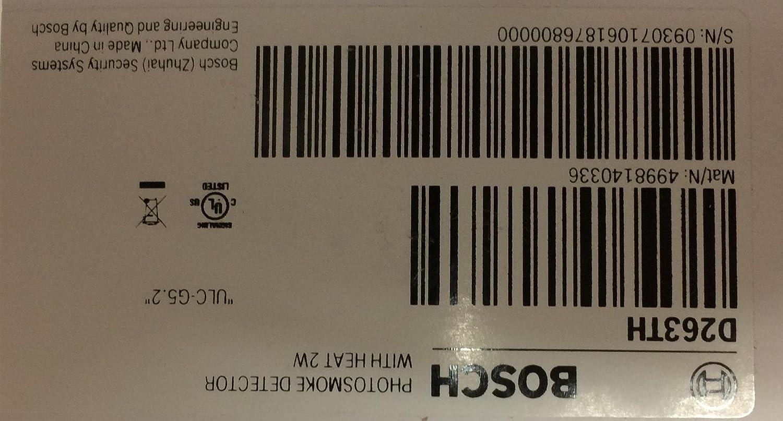 Bosch D263TH- 2-WIRE Photo/Heat Detector - - Amazon.com