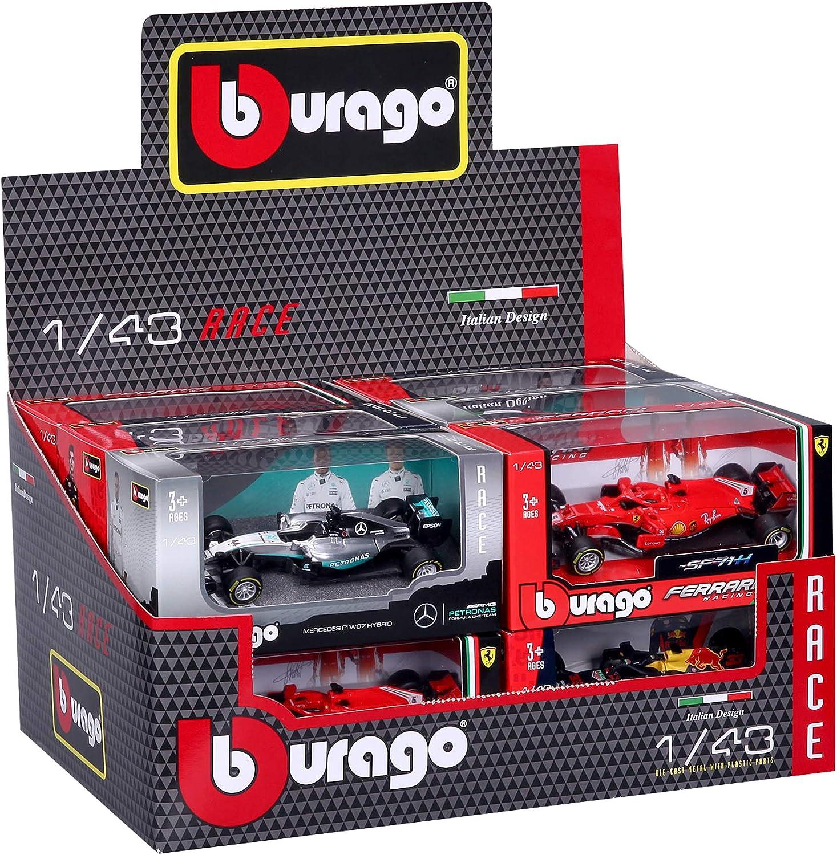 Bburago B18-60019 1:43 F1 Car Surtido Hamilton, Verstappen y Leclerc